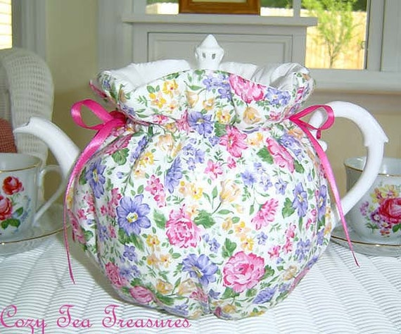 Tea Cozy for 6-8 Cup Teapot Insulated SPRING FLING Tea Pot Tea Cozy Cosy  Also Available in 1-2 Cup and 2-4 Cup Sizes, Upon Request