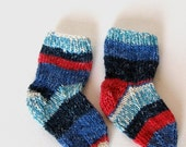 Red White and Little Boy Blue socks 12-18 mo.