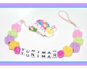 custom personalized  girl pacifier holders over 350 styple to choose from