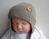 Knitting Pattern Aviator Hat Baby to Child sizes  TATE Instant Download