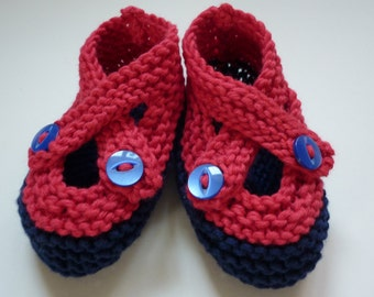 Baby Booties Knitting Pattern, PDF Knitting Pattern, Easy Knit Baby Shoes Pattern, Crossover Strap Booties Knit Pattern -BROOKE