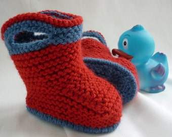 Baby Booties Knitting Pattern, pdf Knitting Pattern, Baby Boots Pattern, Easy Baby Boots pdf, Baby Boots Download - SPLISH SPLASH SPLOSH