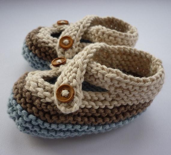 Baby Booties Knitting Pattern, PDF Knitting Pattern, Easy ...