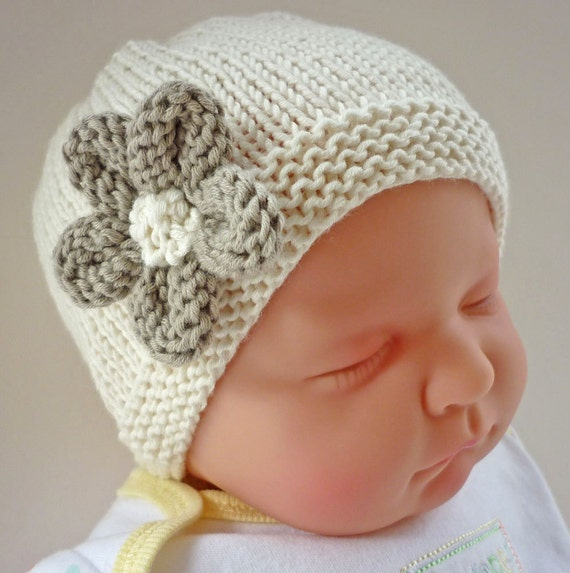 Baby Hat Pattern, PDF Knitting Pattern, Easy Knit Baby Hat ...