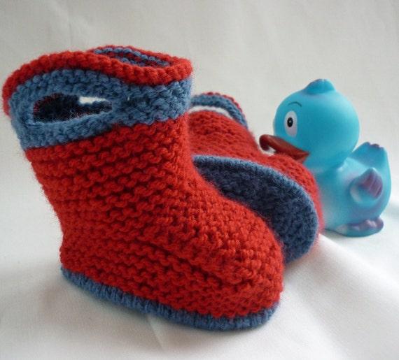 Knitting Pattern Baby Booties SPLISH SPLASH SPLOSH Immediate Download
