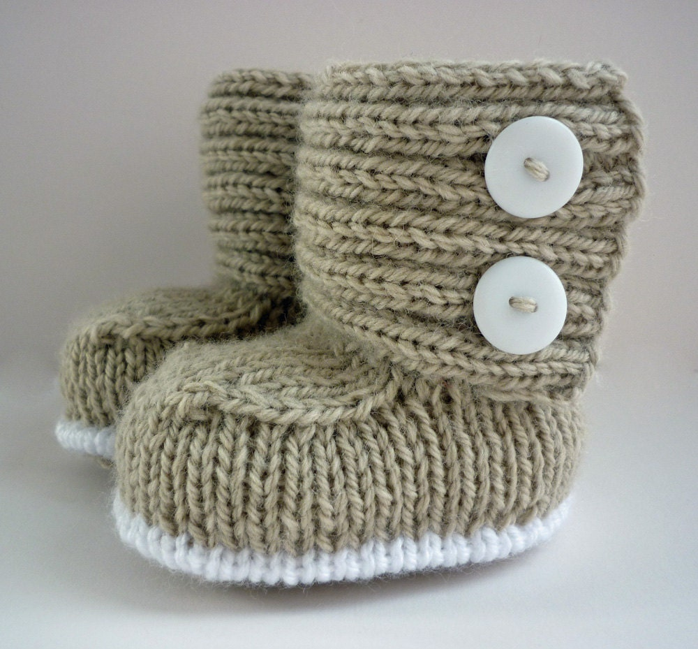 Knitting Baby Booties Patterns : Baby boots knitting pattern pdf jaden instant by lovefibres