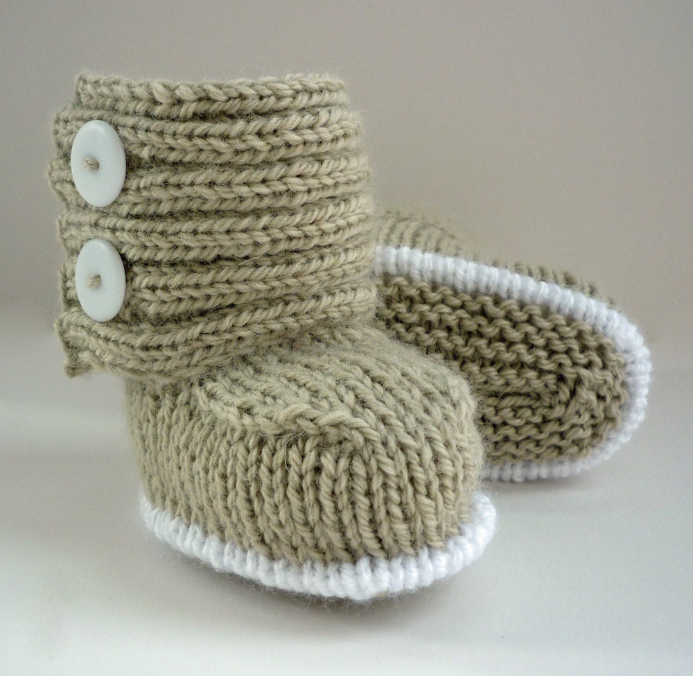 Sweaters Knitting Patterns : Baby Boots Knitting Pattern PDF Knitting Pattern by LoveFibres