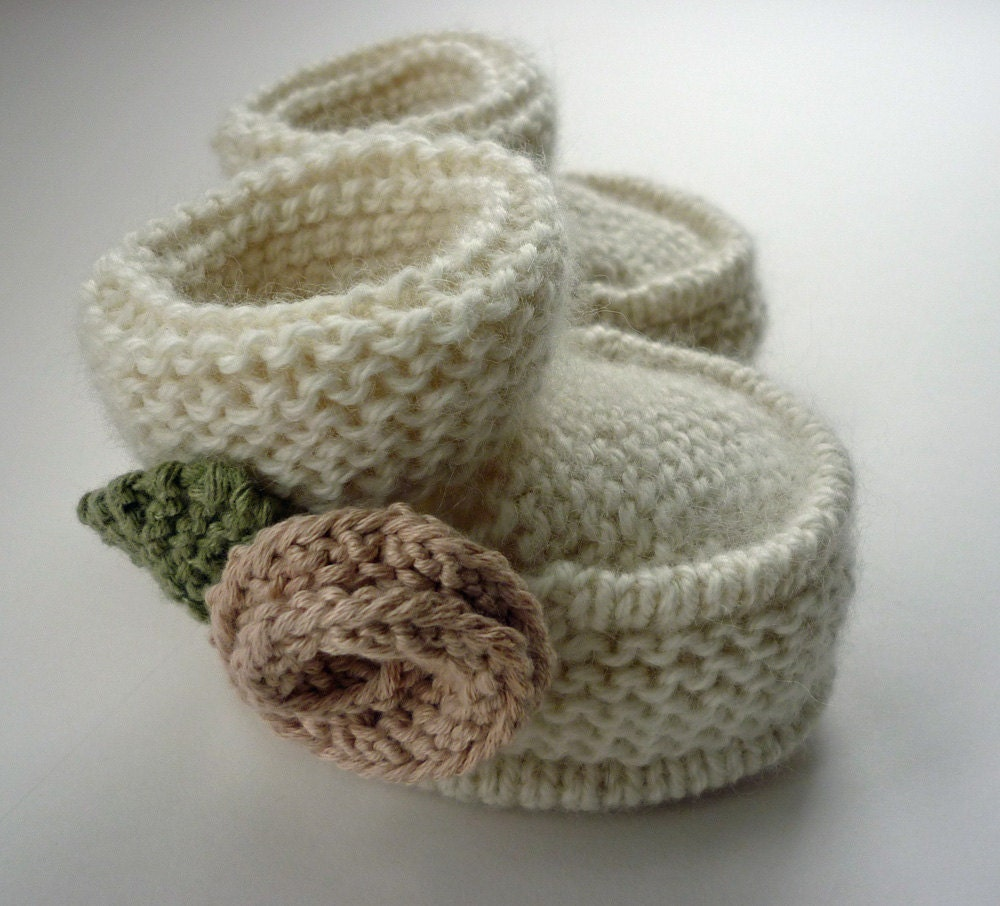 Knitting Patterns Baby Booties Hat images