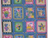 SunBonnet Sue Machine Quilted Panel