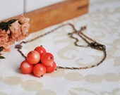 Necklace Pink coral beads pendant
