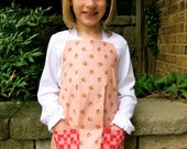 Pink and Red Cherries Child Apron