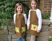 Brown and Green Birds Child Apron