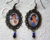 Two Fridas Filigree Cabochon Earrings