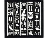 Hieroglyphics Tile for Wall Plaque, or Kitchen Backsplash by Besheer Art Tile (EG-2)