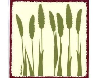 Foxtail Millet for Wall Plaque, Kitchen Backsplash Tile or Bathroom Tile by Besheer Art Tile (BB-3)
