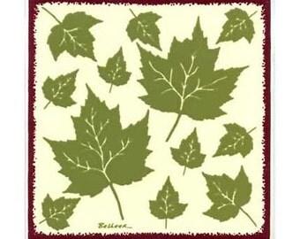 Maple Leaves for Wall Plaque, Kitchen Backsplash Tile or Bathroom Tile by Besheer Art Tile (BB-7)