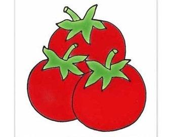 Tomatoes for Wall Plaque, Trivet, or Kitchen Backsplash Tile by Besheer Art Tile (156)