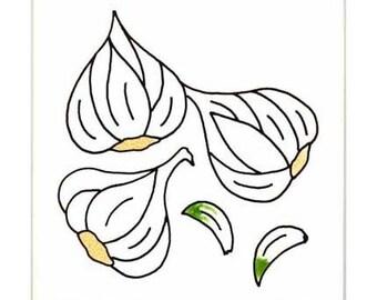 Garlic for Wall Plaque, or Kitchen Backsplash Tile by Besheer Art Tile (176)