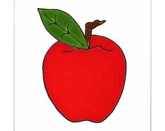 Apple for Wall Plaque, or Kitchen Backsplash Tile by Besheer Art Tile (202)
