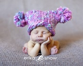 Newborn Double Pom Hat - Perfect Photo Prop - READY TO SHIP