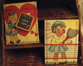 Vintage Valentine's Day gift card wallets