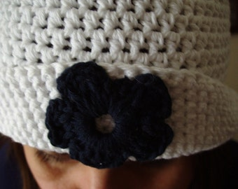 Crochet White Hat For Summer and Spring