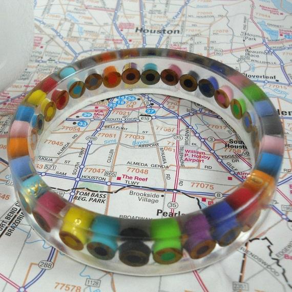 Resin Bangle - Bracelet - Teacher - Teacher Gift - Colored Pencil - Bangle Bracelet - Cuff Bracelet - Resin - Pencil - Multi Color - Rainbow