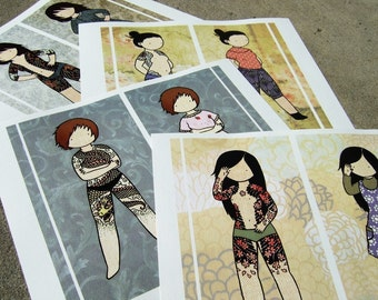 Set of 4 Secret Yakuza full color prints