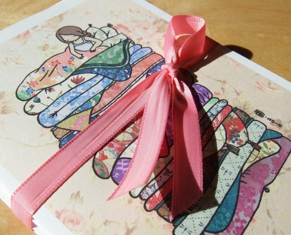 Set of 3 Princess and the Pea blank cards