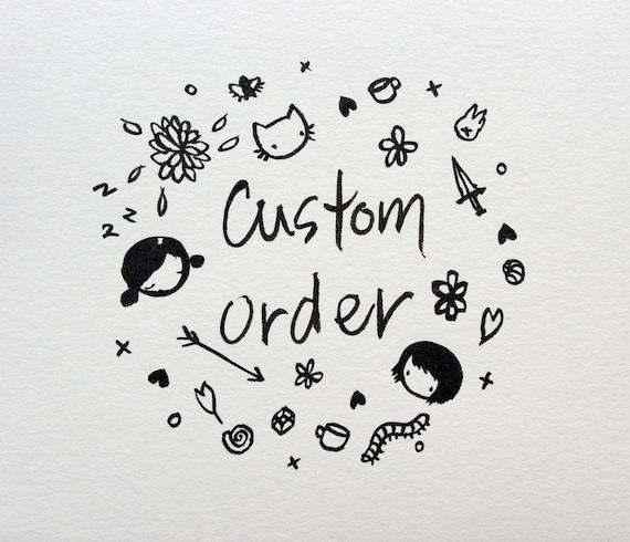 Custom listing for Stephanie - tattooed lady print