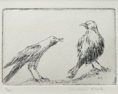 original etching of crows
