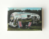 mini canvas print of a caravan - airstream trailer