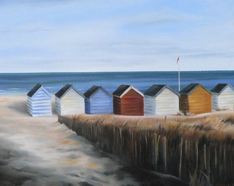 giclee print of a row of beach nuts