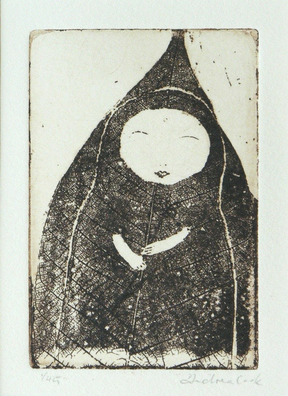 original etching - at one with nature