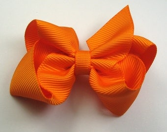 "2.25"" Orange Boutique Hair Bow-Toddler Hair Bow-Child Hair Bow"