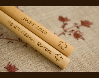 Custom Engraved Chopsticks - Light Wood