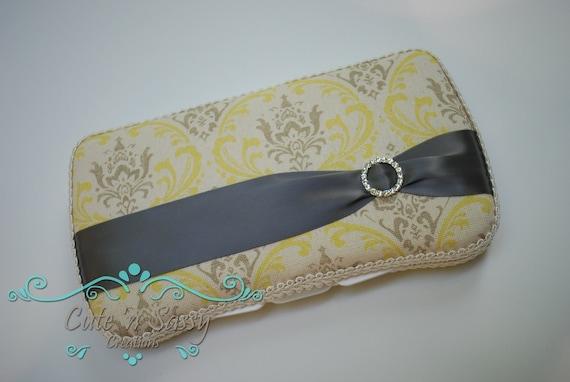 Boutique Baby Wipe Case - Sunny Madison Damask Covered Wipes Case