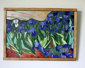 On Hold for Madonna  Mosaic, Stained Glass Irises After Van Gogh