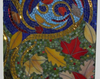 CLEARANCE SALE:  Colorful Stained Glass Mosaic Autumn