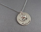 Medium Family Necklace - Sterling Silver Hand Stamped