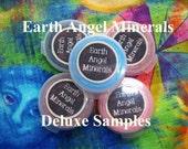 DELUXE SAMPLES 15 for 15 Dollars - Natural Botanical Mineral Makeup  - Veagn, Celiac Friendly U pick colors - Foundations, Veils, Eye Colors