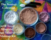NEUTRAL FACE - Med Beige - Get Started 8pc Natural Mineral Makeup Kit - Organic - Bonus Items Included - Gluten Free - Vegan