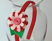 Felty Blossoms Headband - Strawberry Shortcake