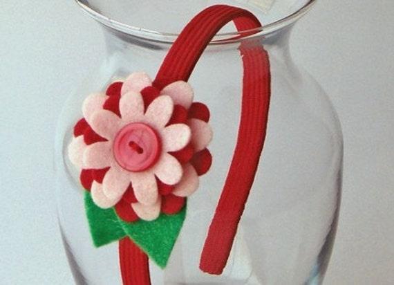 Felty Blossoms Headband - Strawberry Shortcake