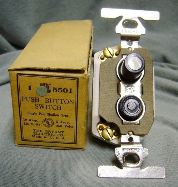 Vintage electric pushbutton switches