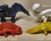 Set of 9- 1950s Cracker Jack Plastic Dinosaurs F6300