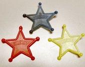 1950s Plastic Sheriff Star Badge hook type HONG KONG