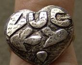 1960s to 70s Tin LUCKY Ring RARE