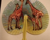 1970's Souvenir Circus 8-inch Giraffe Fan
