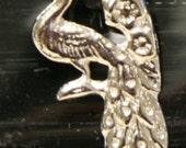 1960s New York Zoo Pin PEACOCK